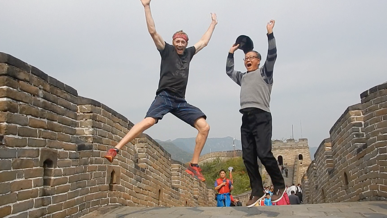 Hours before his Great Stall, Ryan at the Great Wall.
