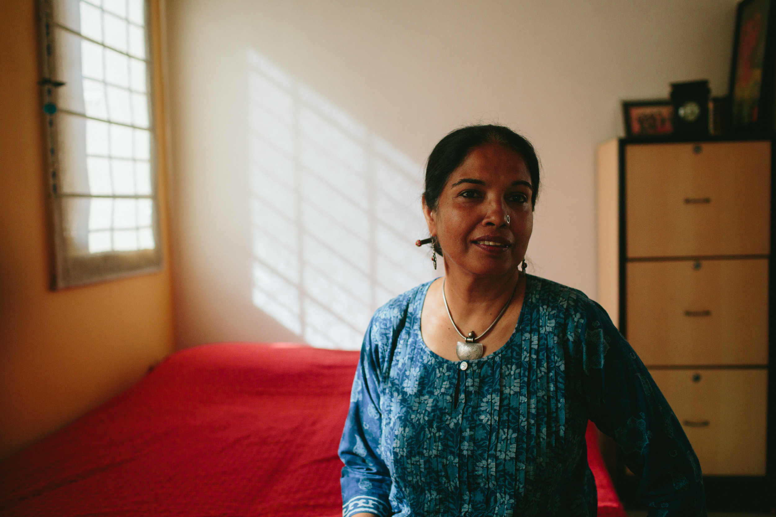 """Ayesha Oommen, """"It was given to me by my mother, when I moved away to Bangalore and started a family, and set up my own kitchen. I remember I went back home on holiday, and she was frying fish in it, in the kitchen. And in that way that mother's do, she said - you take it with you."""""""