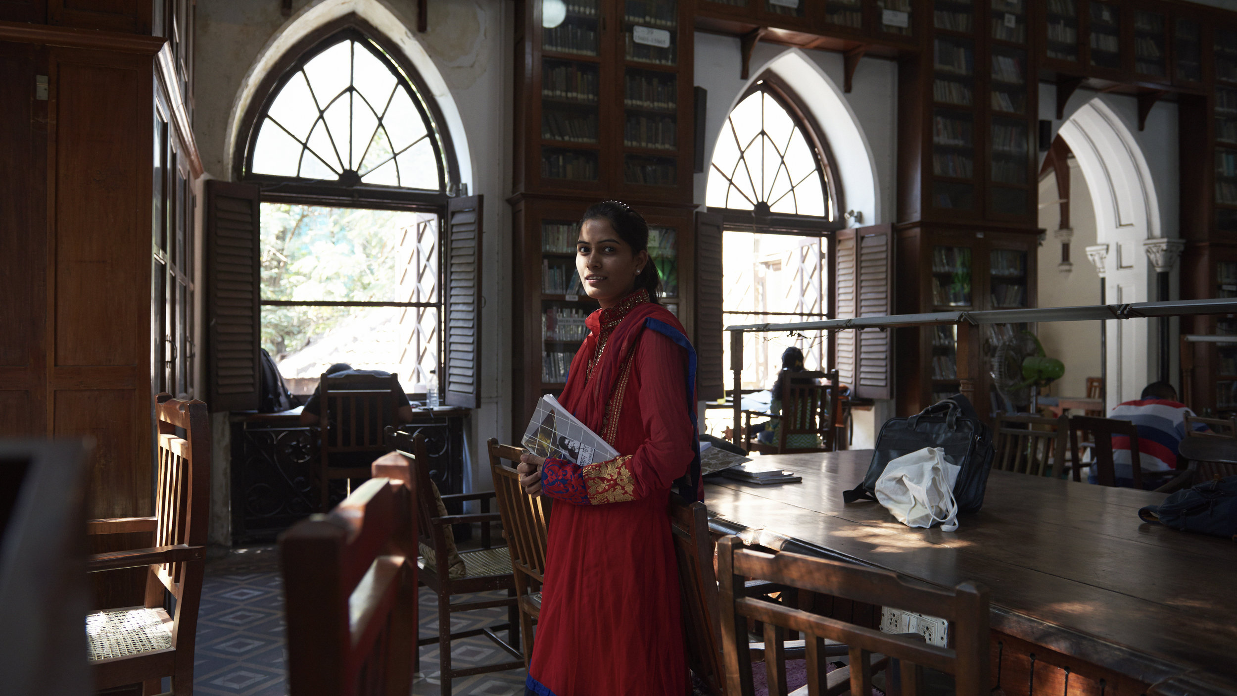 Miss Pinki Kamble, Librarian for two years now at this 151 year old heritage structure.