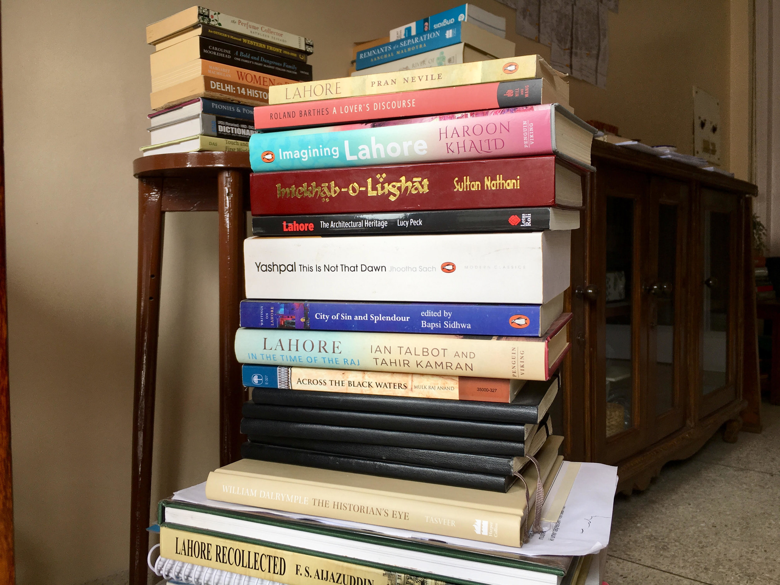 A glimpse of Aanchal's current reading list.