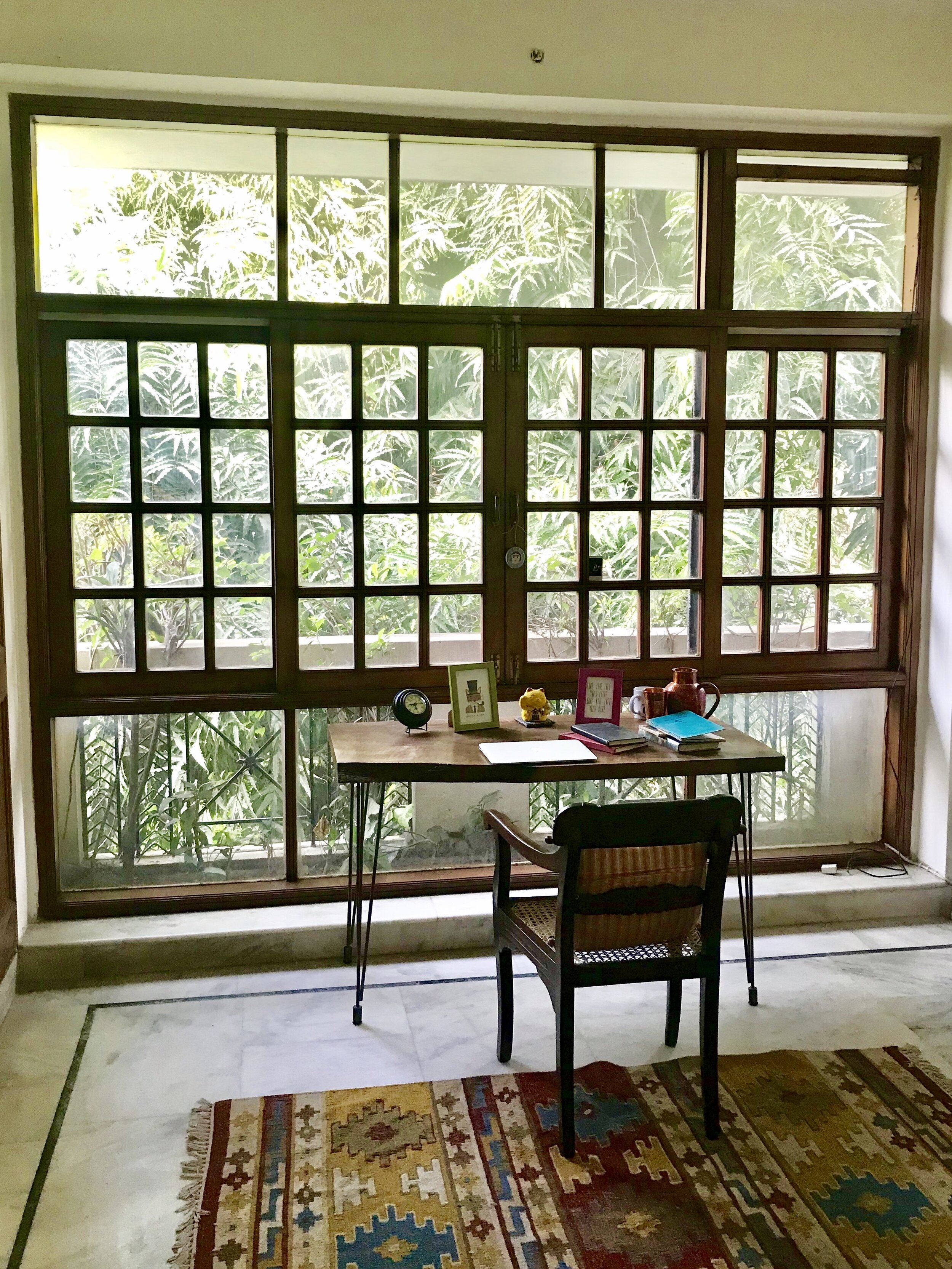 Amrita began work on Milk Teeth at this beautiful desk in New Delhi, where she took a two year break from her regular day job.