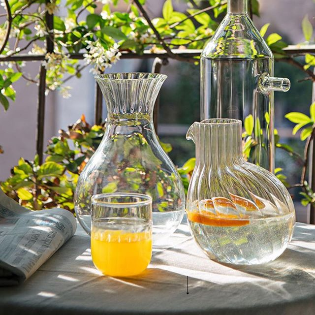 Dodó and Routine on holiday @paolac.milano  #tableware #madeinitaly #glass #summer