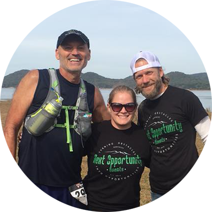 """We love our runners and enjoy seeing the same smiling faces over and over at our events. This is our good buddy, David, after he completed the 2017 Reaper 30K. David and so many others have supported us since our first day """"on the job""""."""