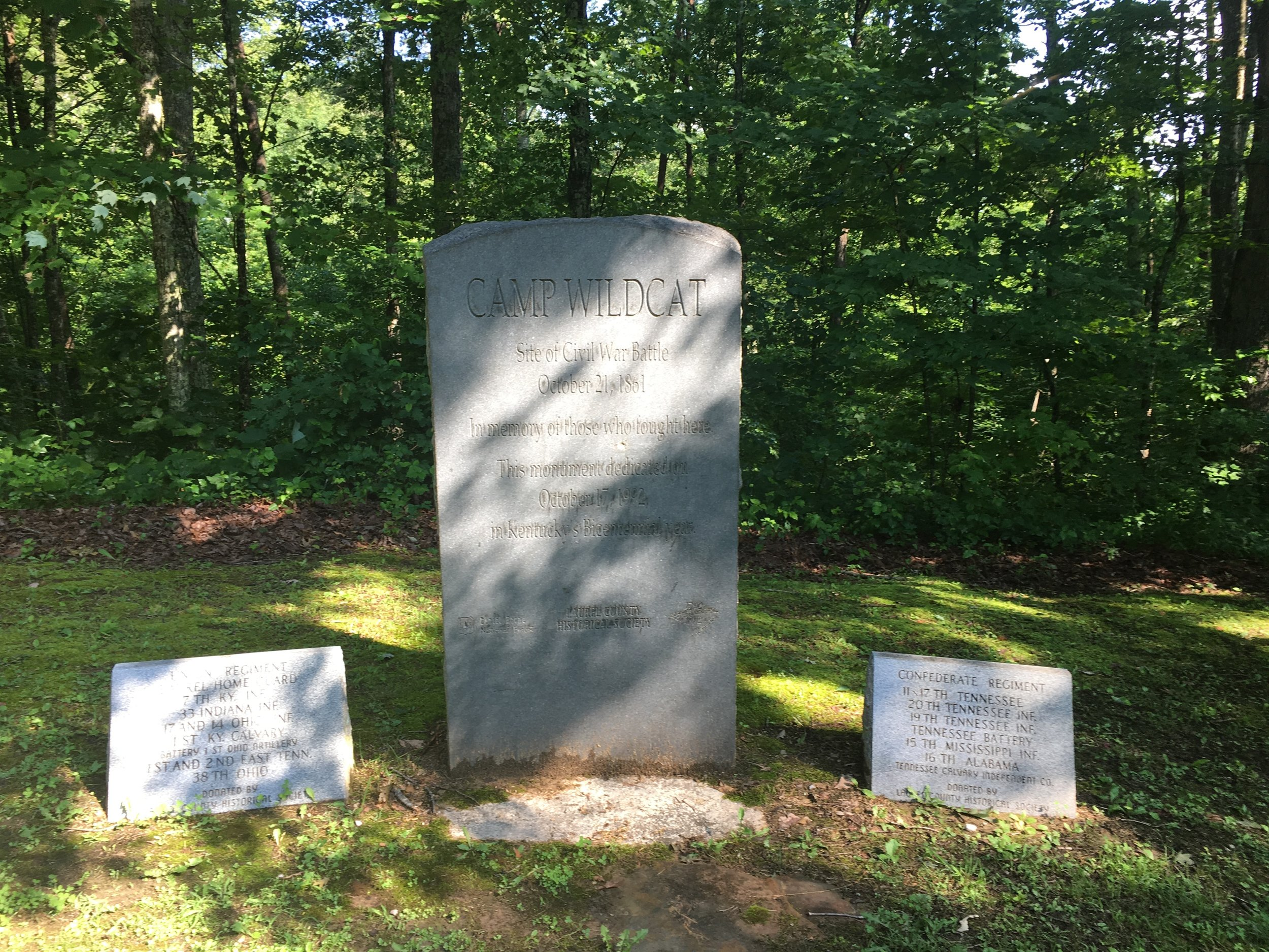The memorial at Camp Wildcat.