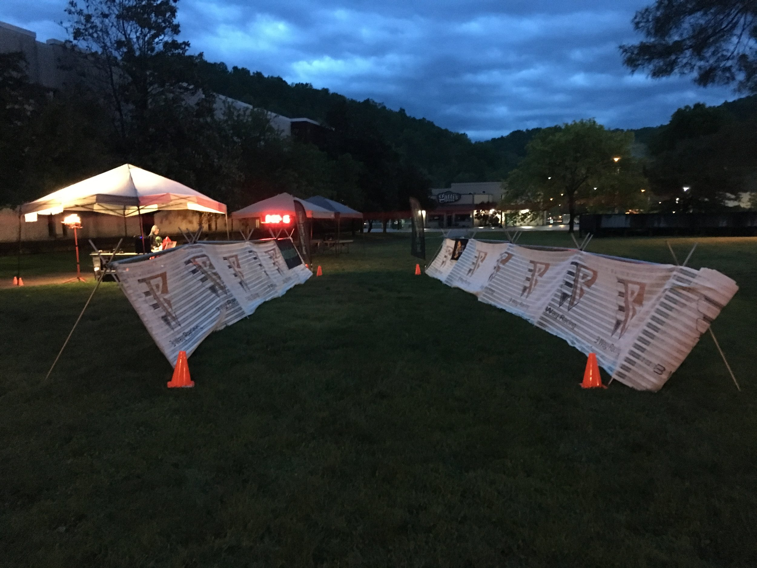 Dawn breaks over Morehead, Kentucky for the 2017 Big Turtle 50 Miler