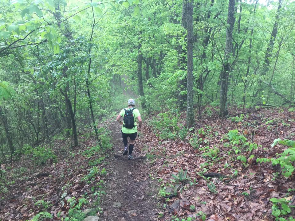 Heading down one of the many short but steep hills int he first 5 miles.
