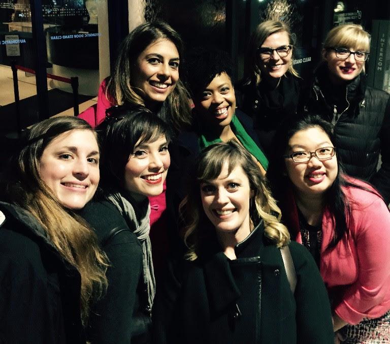 From left to right:  Molly Joyce, Jennifer Jolley, Carla Canales, Angela Grovey, Amanda Gookin, Kelly Moran  (back row);  Elizabeth Stanley, Emily Koh  (front row)