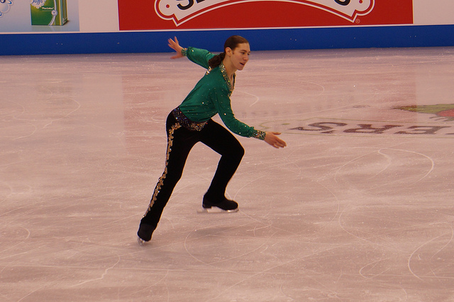 Jason Brown at the 2014 U.S. Figure Skating Championships. An injury has forced him out of this year's event.