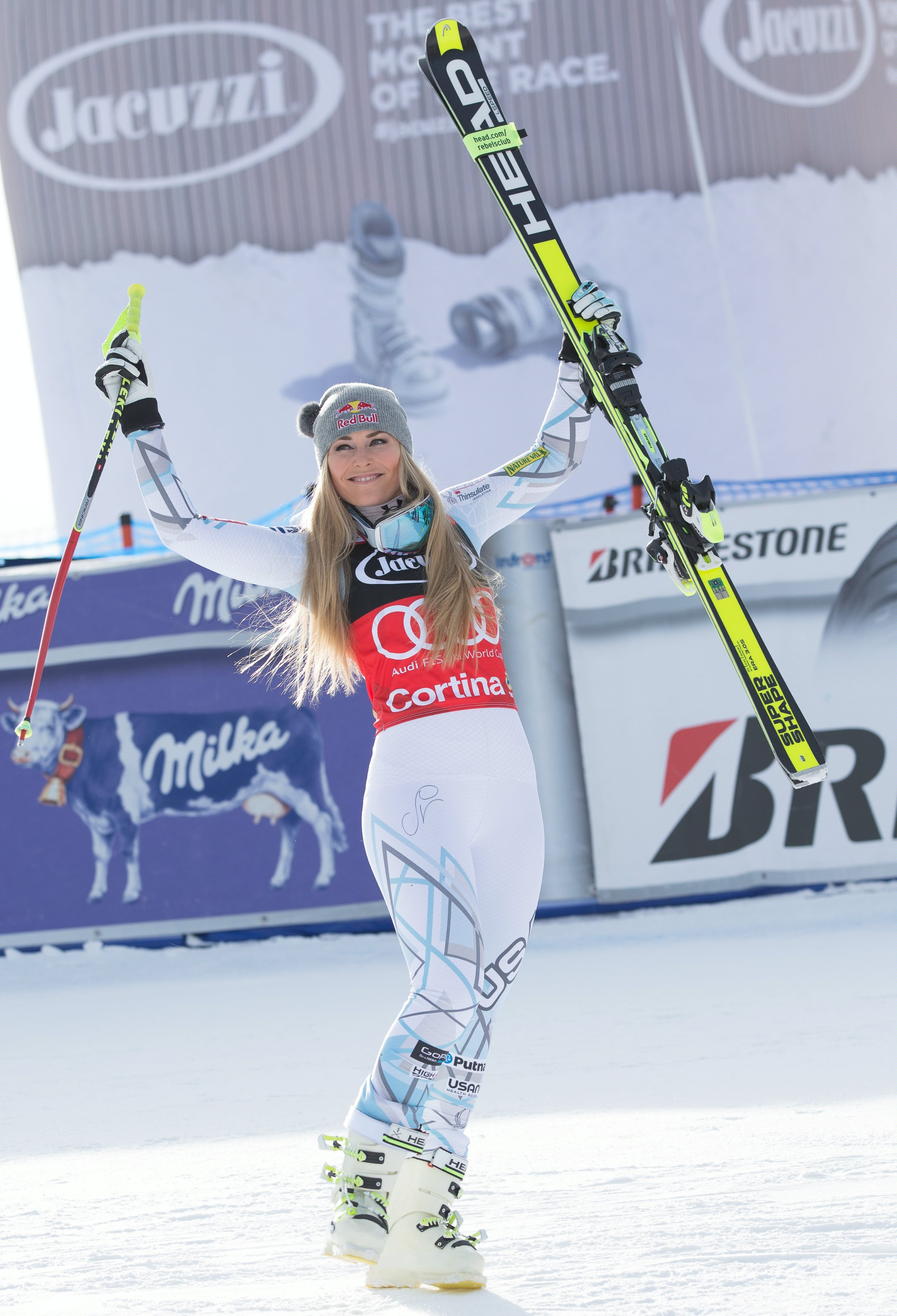 Lindsey Vonn celebrates her eighth win of this World Cup season.  (Erich Spiess/ASP/Red Bull )