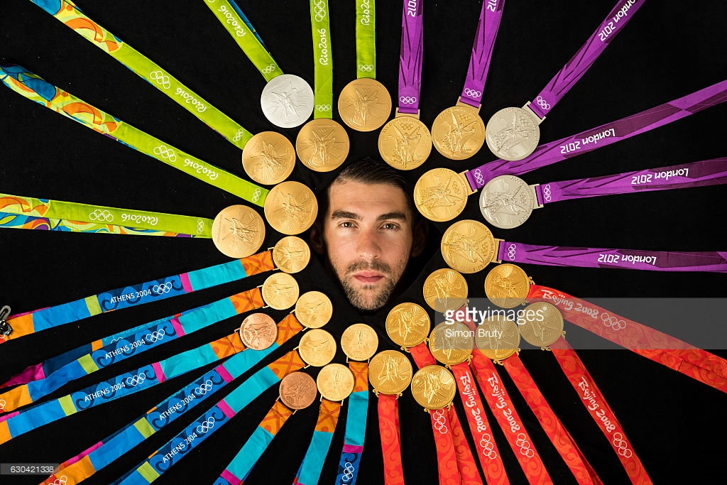 Michael Phelps and his 28 Olympic medals. Phelps left Rio as unquestionably the greatest Olympian in history. (Getty Images / Sports Illustrated)