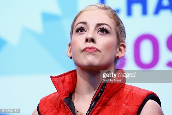 Gracie Gold after the poor free skate at the World Championships.