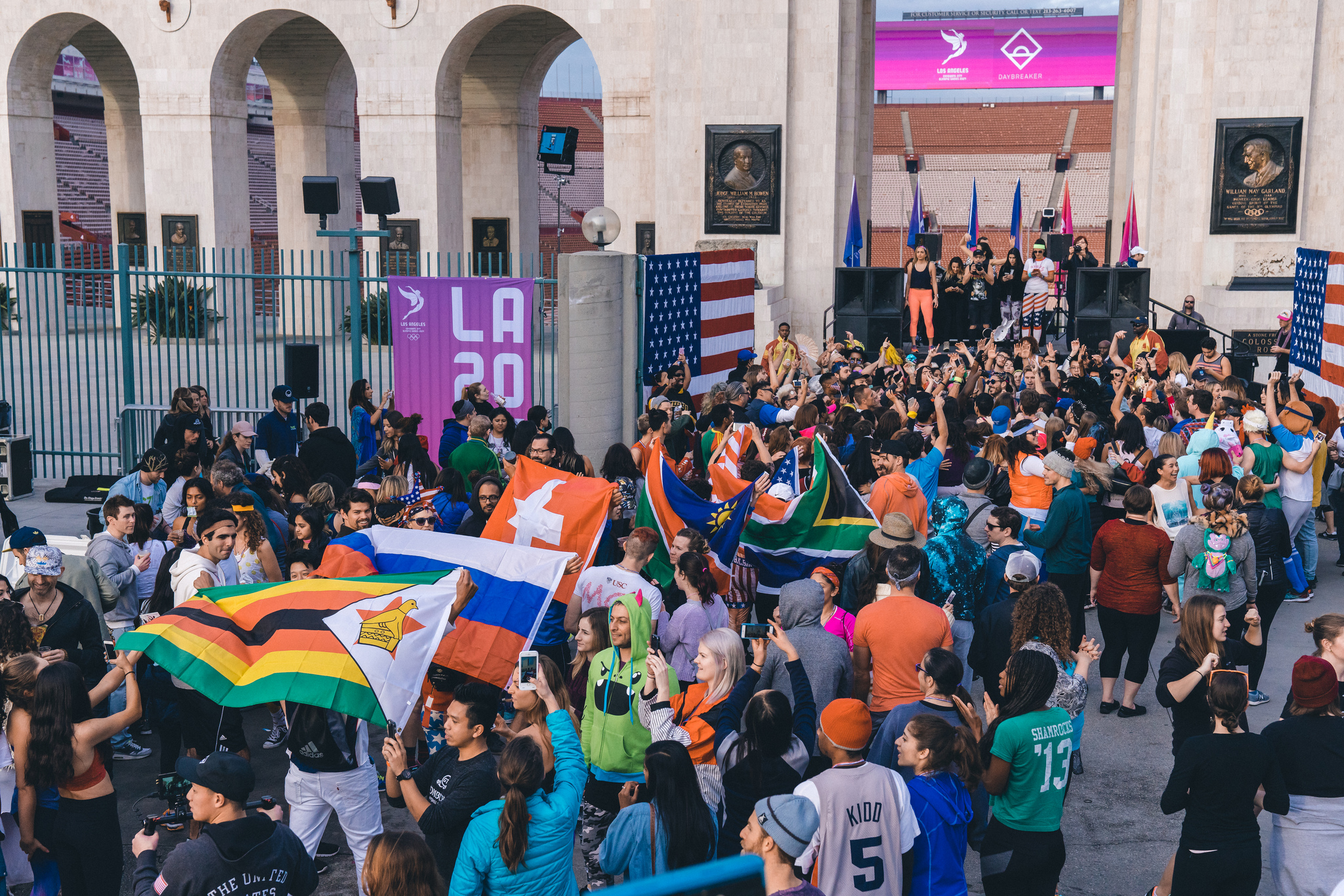 L.A. 2024 marked Thursday's delivery to the International Olympic Committee of its final Summer Games bid plans with a public celebration at the L.A,. Coliseum. Photo L.A. 2024.