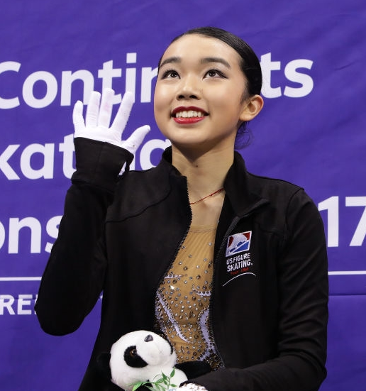 Karen Chen puts on a brave face after her dismal short program at Four Continents. She also was 12th overall.(Getty Images).