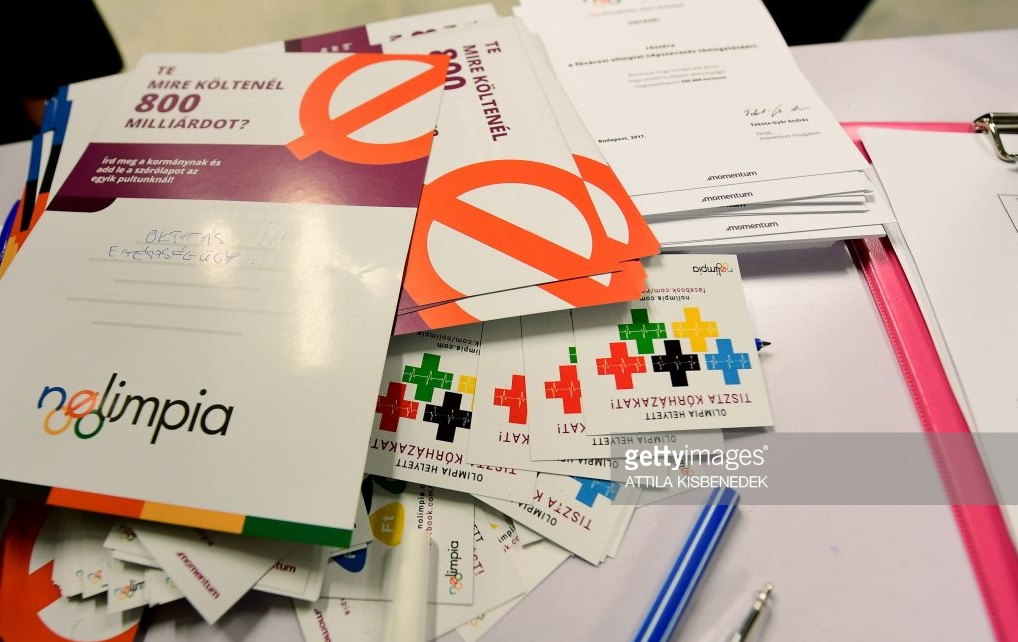 The No Olympics movement in Budapest got enough signatures for a public referendum that seemed certain to doom the city's Olympic bid, leading the mayor to end the bid before a vote.