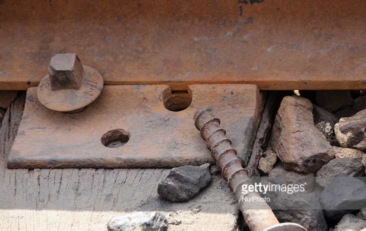 This photograph, taken just three weeks before the 2016 Summer Games, shows the disrepair of train lines serving the population of the Rio's Deodoro neighborhood, which contained Olympic venues that have been shuttered since.