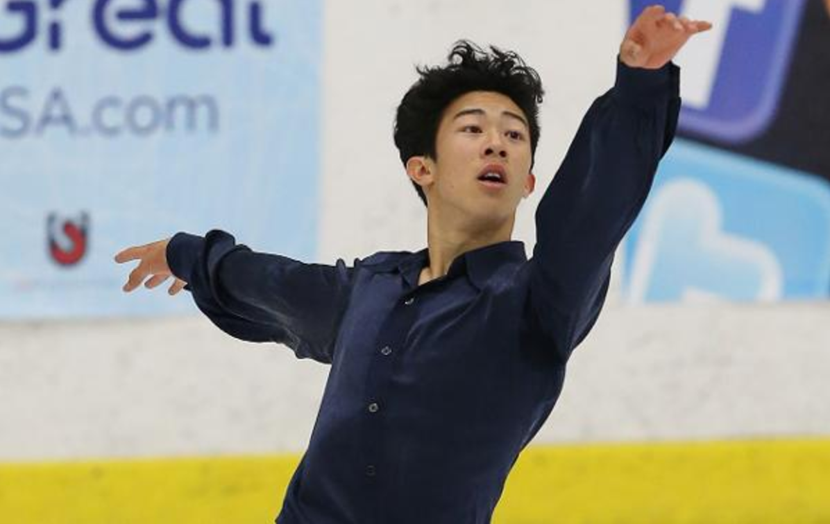 Nathan Chen during his winning free skate at the U.S. International Figure Skating Classic (IceNetwork photo)