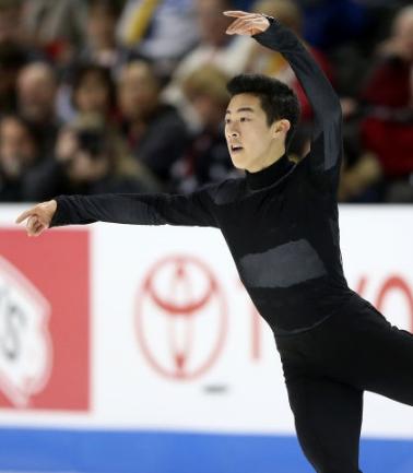 Nathan Chen at 2018 nationals. (Getty)