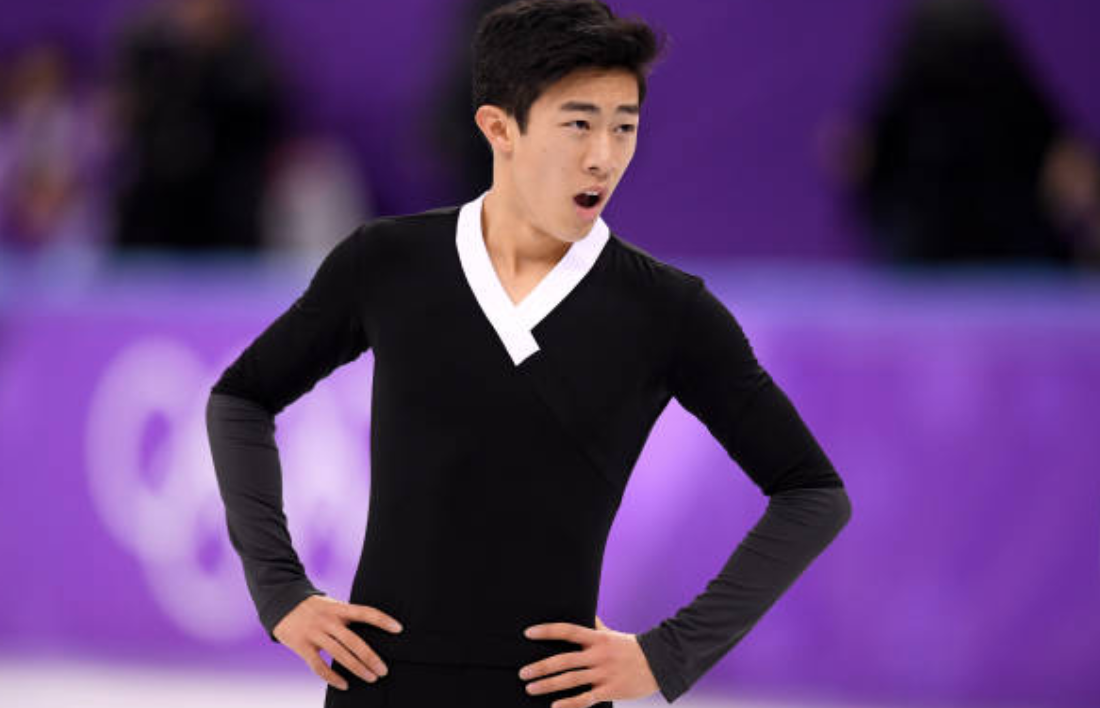 A historic free skate left Nathan Chen gasping for air. (Getty Images)