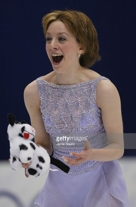 Sarah Hughes' reaction to the stunning free skate that made her 2002 Olympic champion.