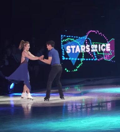 "Ashley Wagner and Nathan Chen as dance partners in ""The Shape of You.""  (NBC Sports screenshot)"