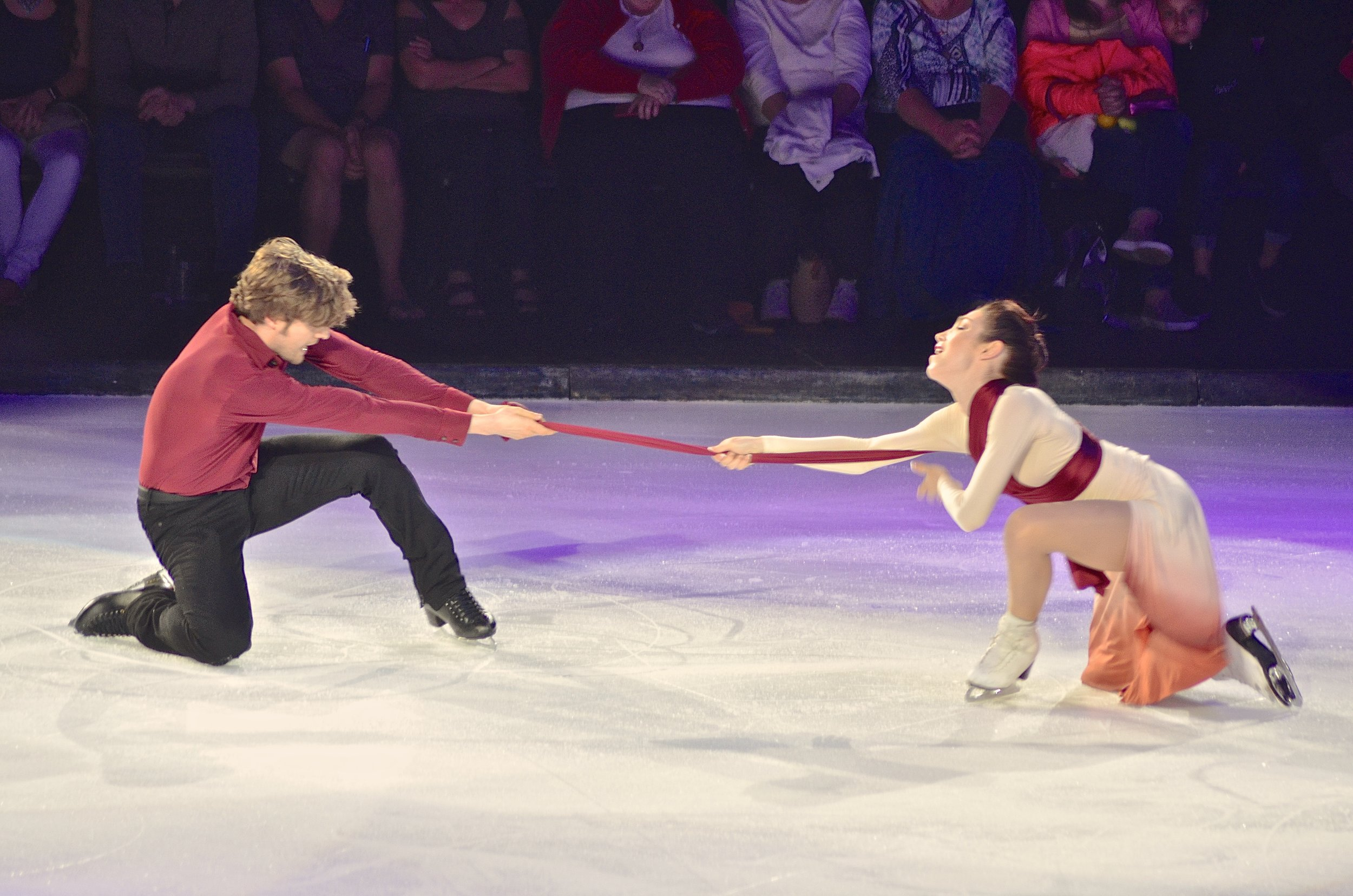 "Meryl Davis and Charlie White in ""Elastic Heart.""  (Photo courtesy Stars on Ice)"