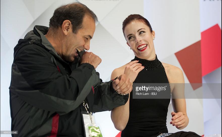 Rafael Arutunian and Ashley Wagner at 2017 Skate Canada.