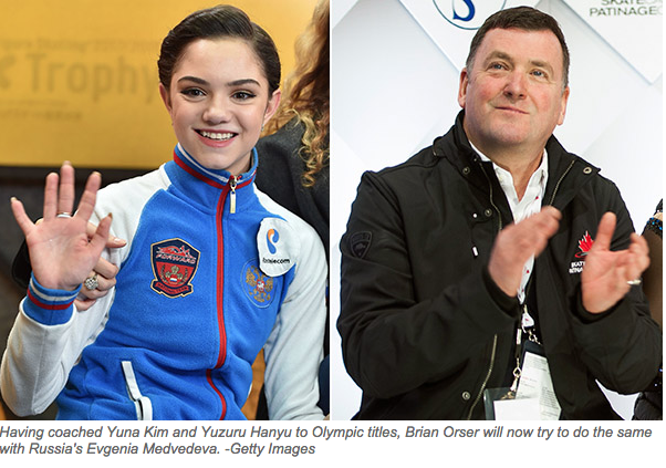 Orser on newest star student Medvedeva: