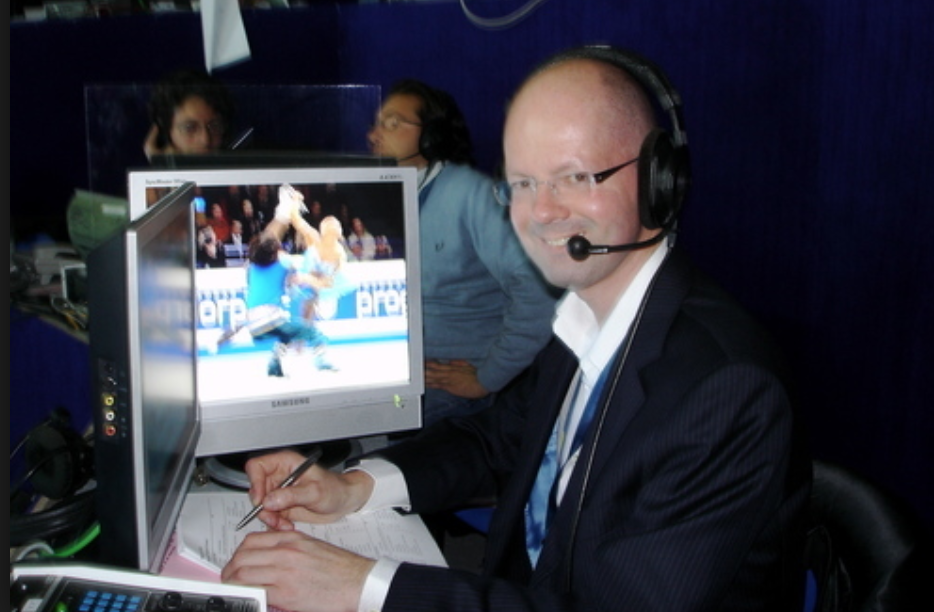 Jeroen Prins as a competition official.