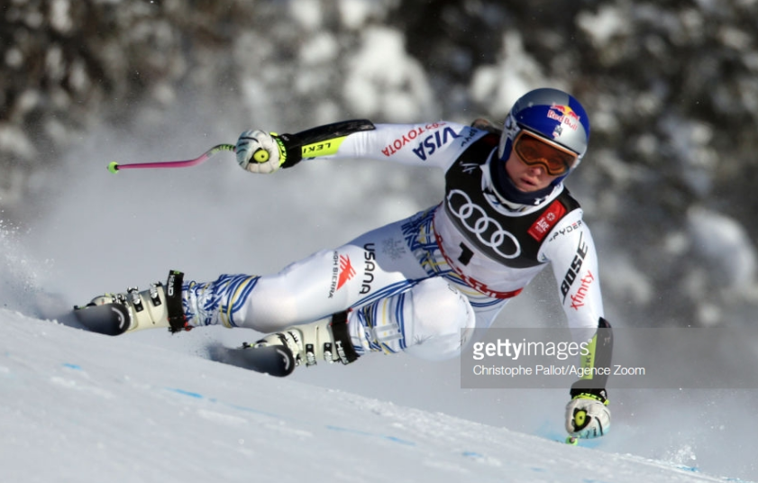Lindsey Vonn in Monday's downhill training at the World Championships in Are, Sweden.