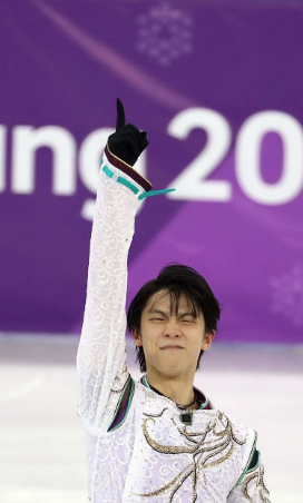 No. 1 at the Olympics again: Yuzuru Hanyu in 2018. (Getty Images)