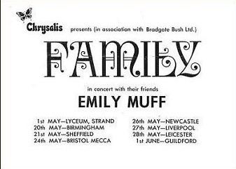Family / Emily Muff Tour Schedule