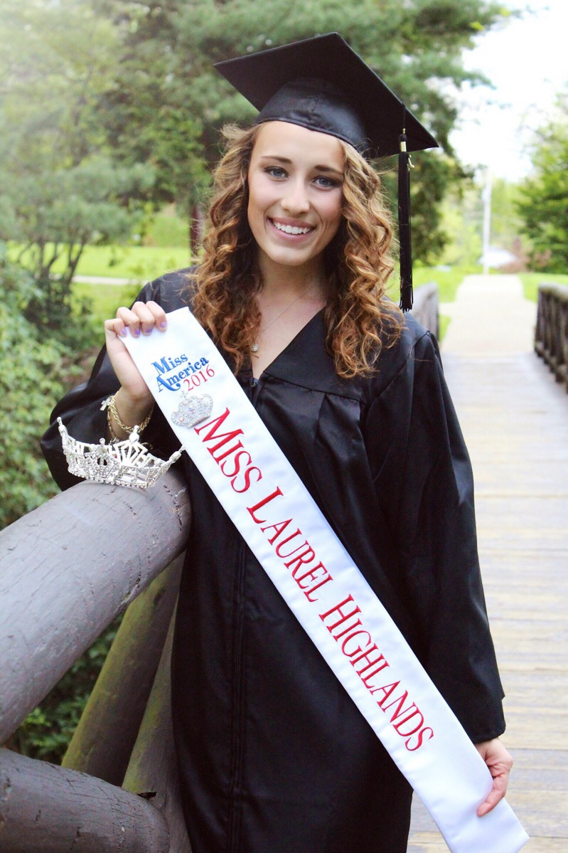 "Brianna Layman - Miss Laurel Highlands 2016    Platform:  The Art of Science: from STEM to STEAM    Talent:  Speed Art to a self composed piano and cello duet called ""The Kissing Hand""    Bachelor's of Science in Biochemistry and Studio Art from Allegheny College    Miss America Serves Day Award for raising the most dollars in a day for CMN."