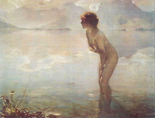 Artist credit: Matinée de Septembre, September Morn circa 1912 by Paul Chabas
