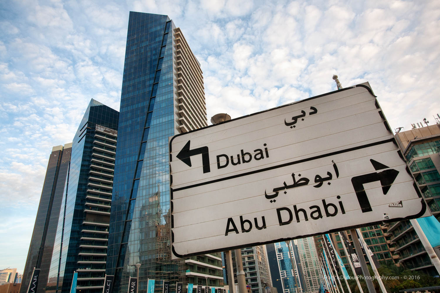 Road Sign in the Marina (Dubai, UAE)