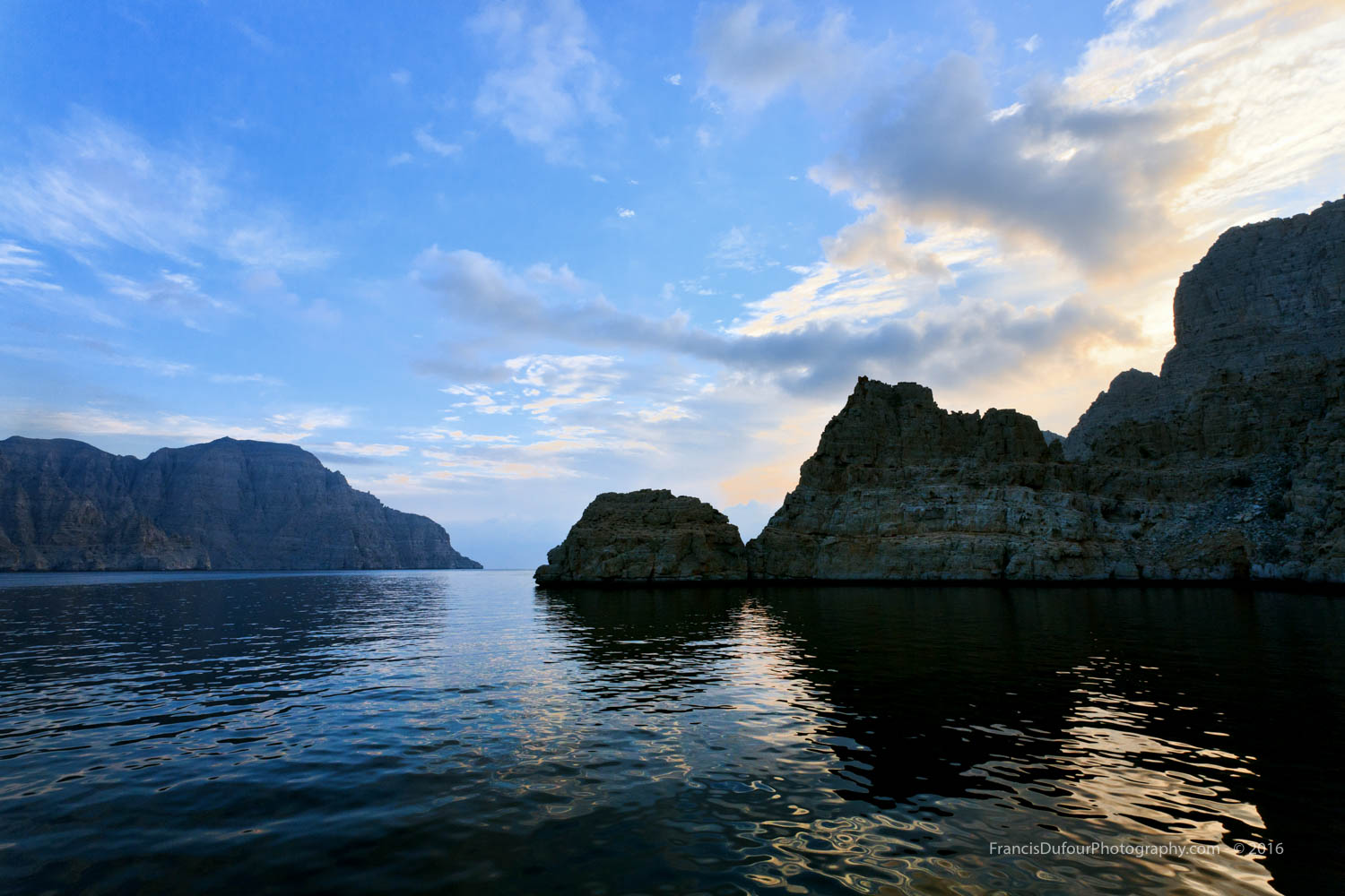Sunrise in Sheesha Bay (Musandam, Oman)