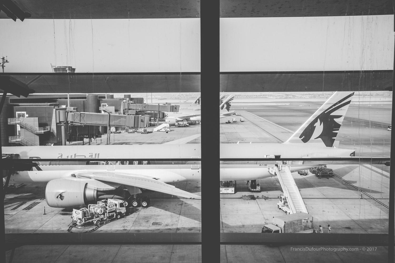 Hamad International Airport in Doha (DOH) - Qatar.