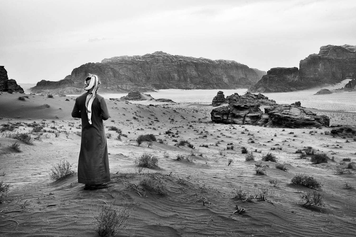 """2017 International Monovisions Awards in London - Winning Entry - Honorable Mention -""""A Bedouin in Wadi Rum""""."""