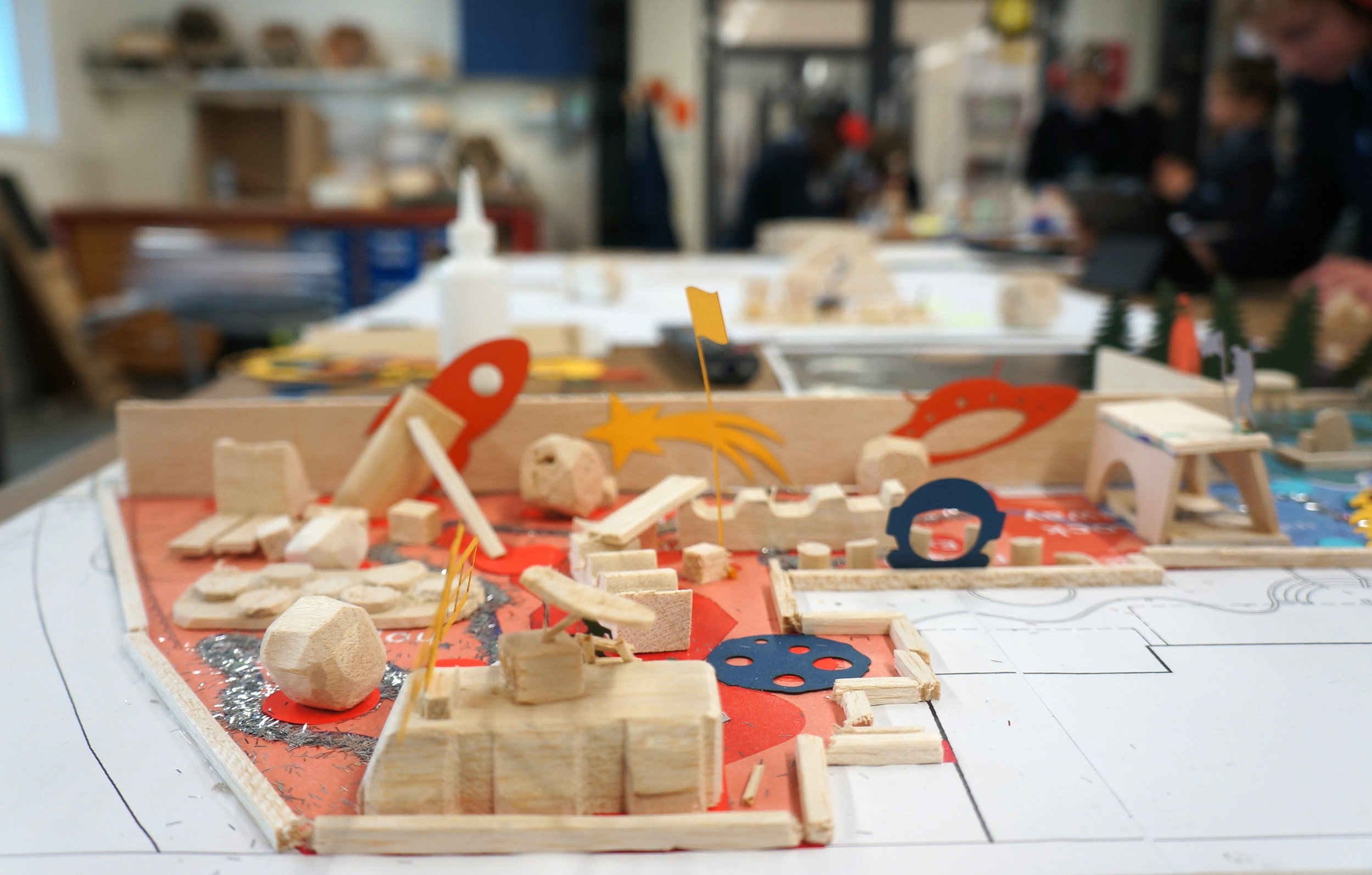 Space and the Future - Concept Model by pupils - Mars Rover.