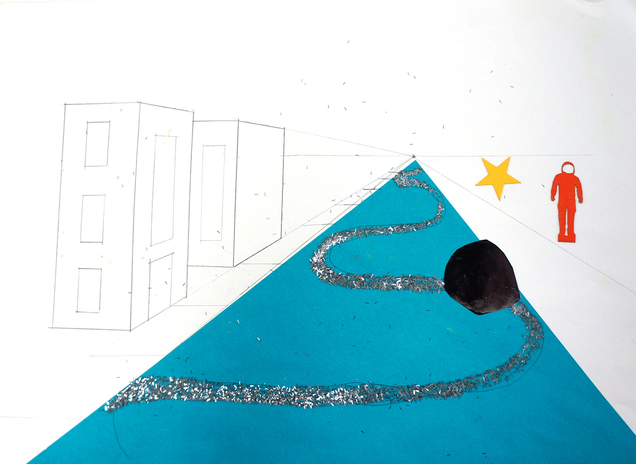The Milky-Highway. Concept perspective drawing by pupils.