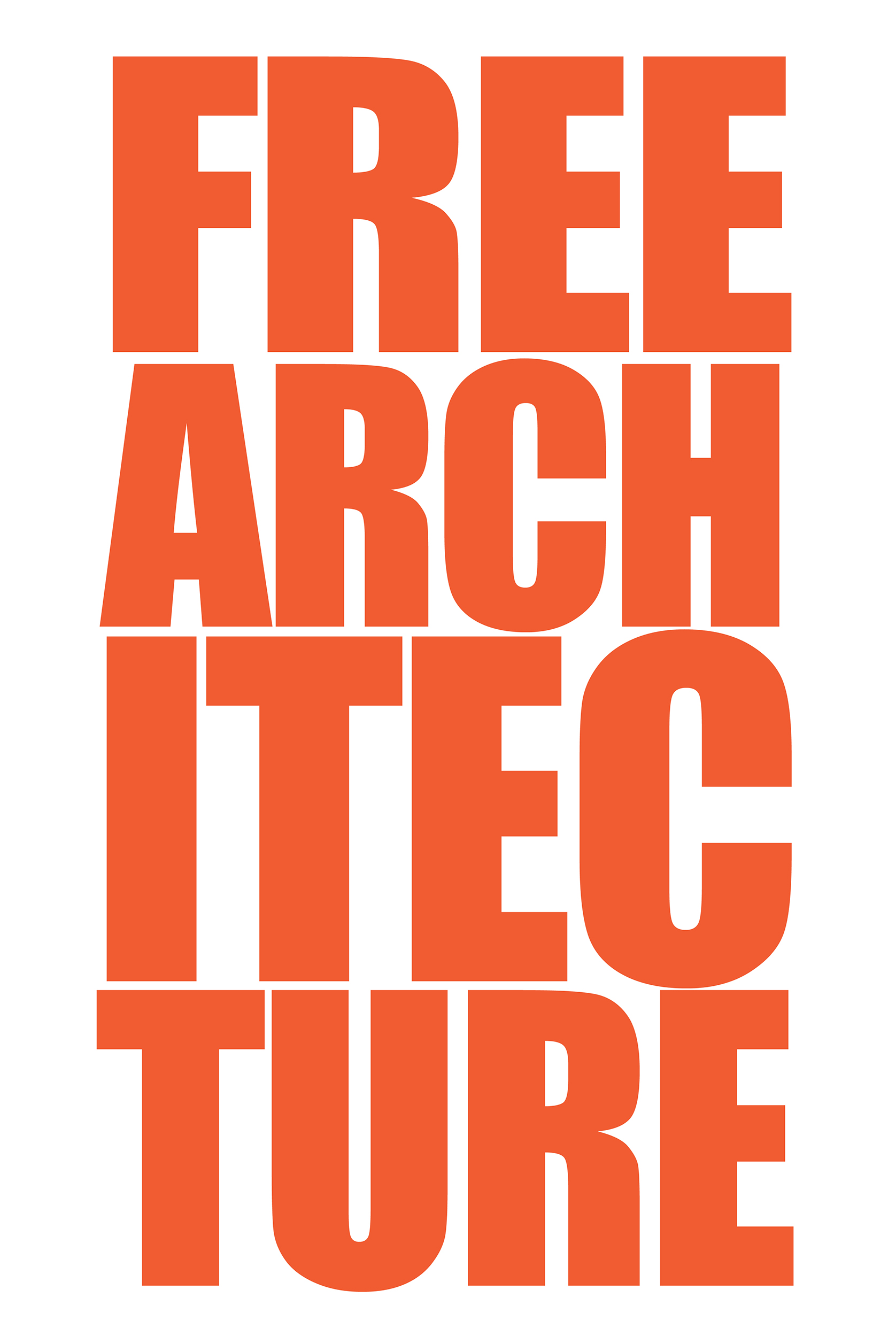 'Free Architecture' poster.