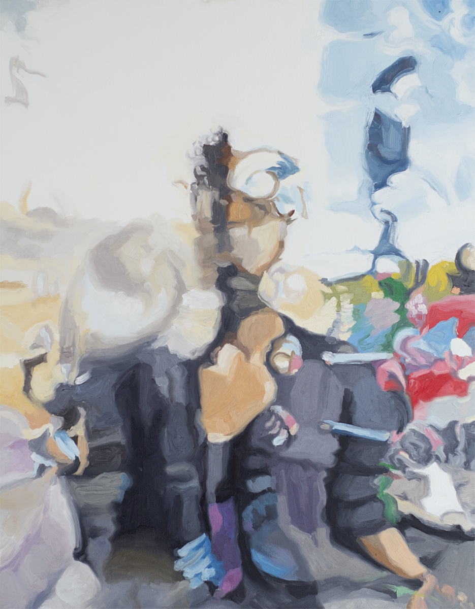 "Liz, 22x36"", oil on canvas, 2013"