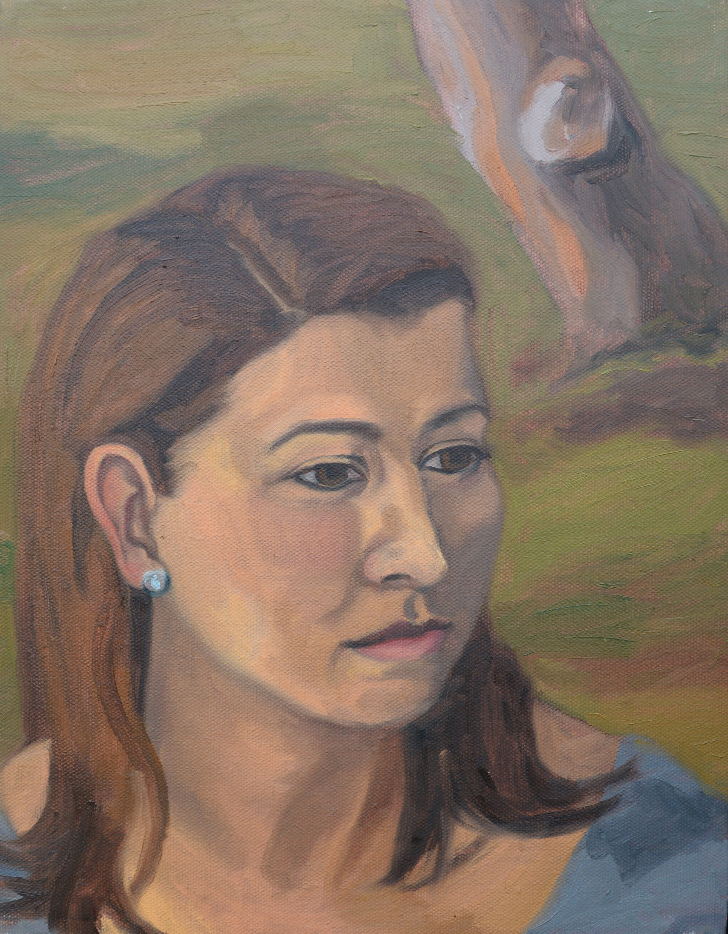 "Andrea, 11x14"", oil on canvas, 2011"
