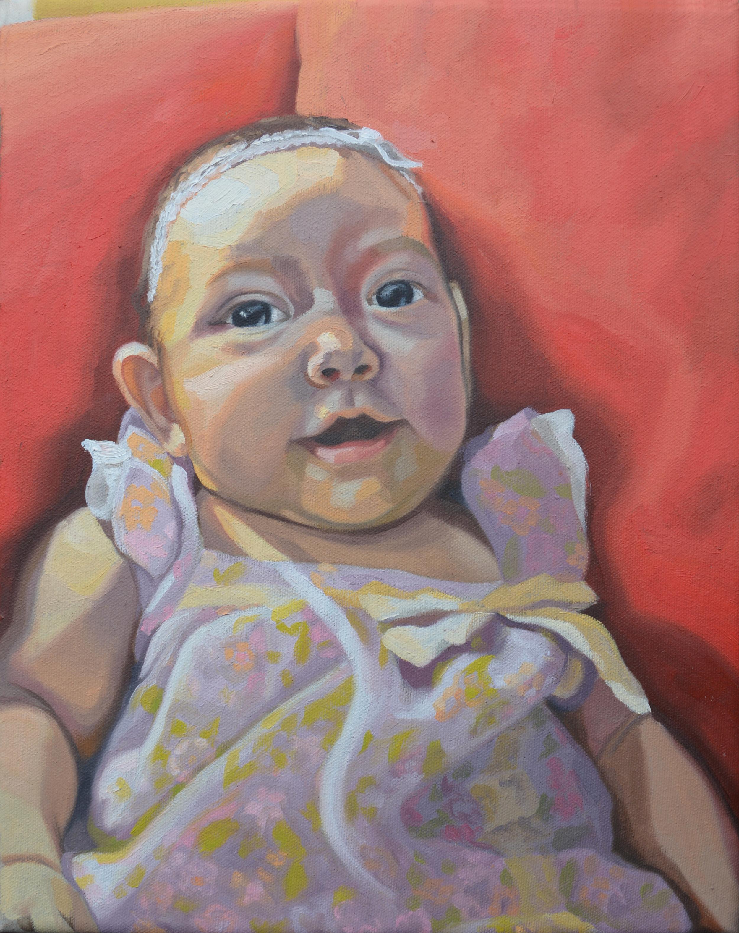 "Ximena, 11x14"", oil on canvas, 2014"
