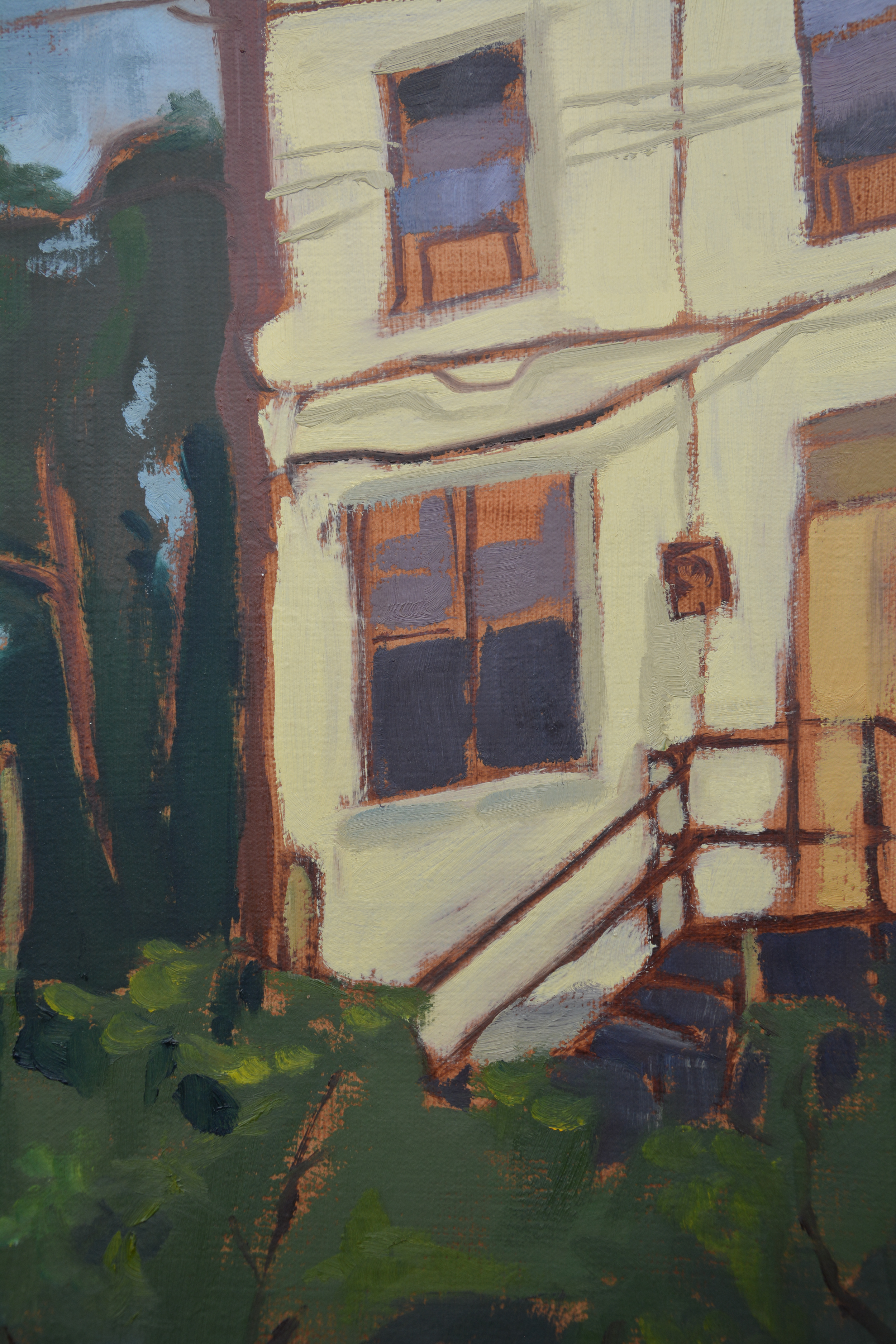 Hunting Park Community Garden, detail, oil on canvas, 2008