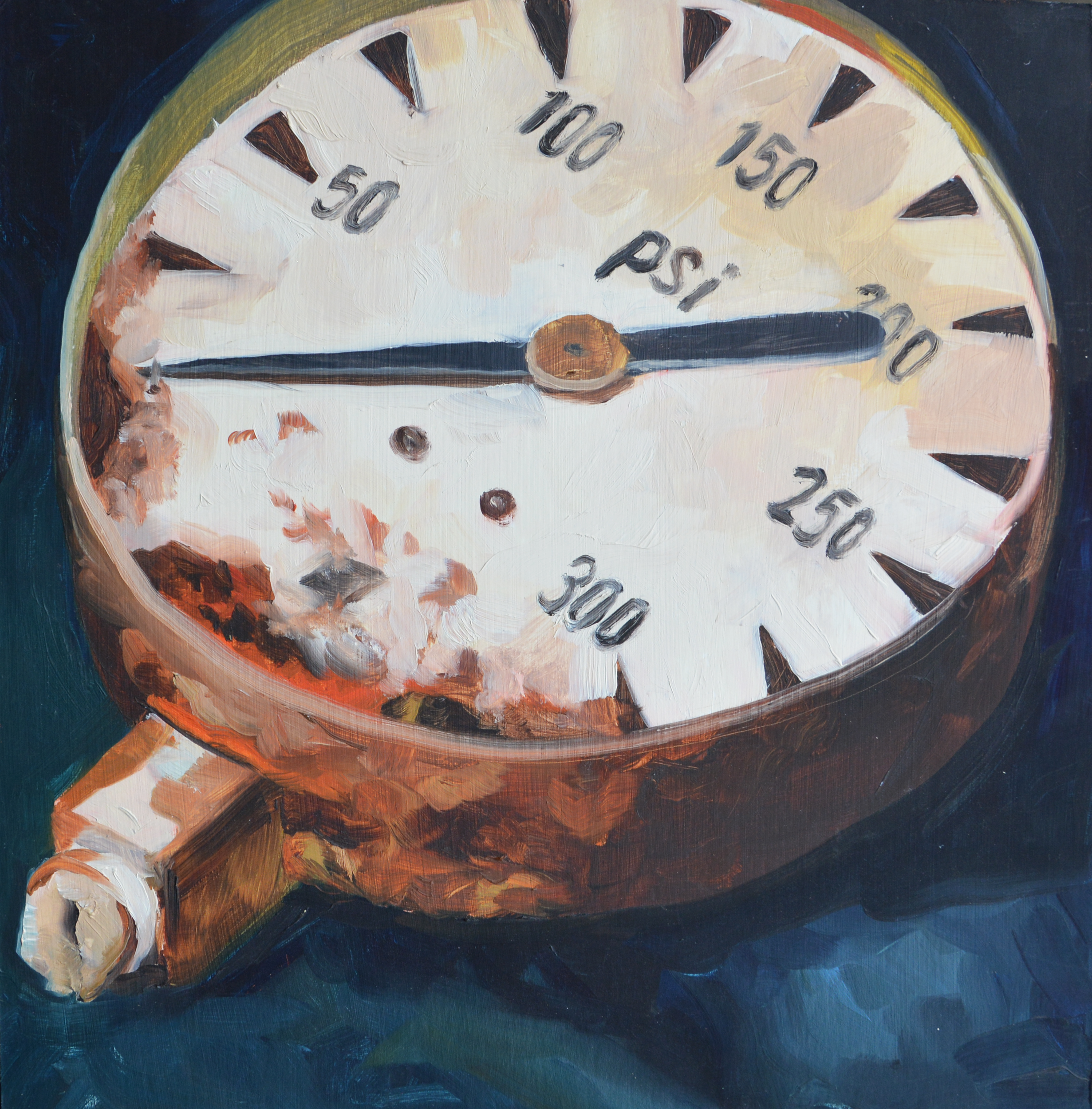 """Hunting Park Find, 14x14"""", oil on board, 2005"""
