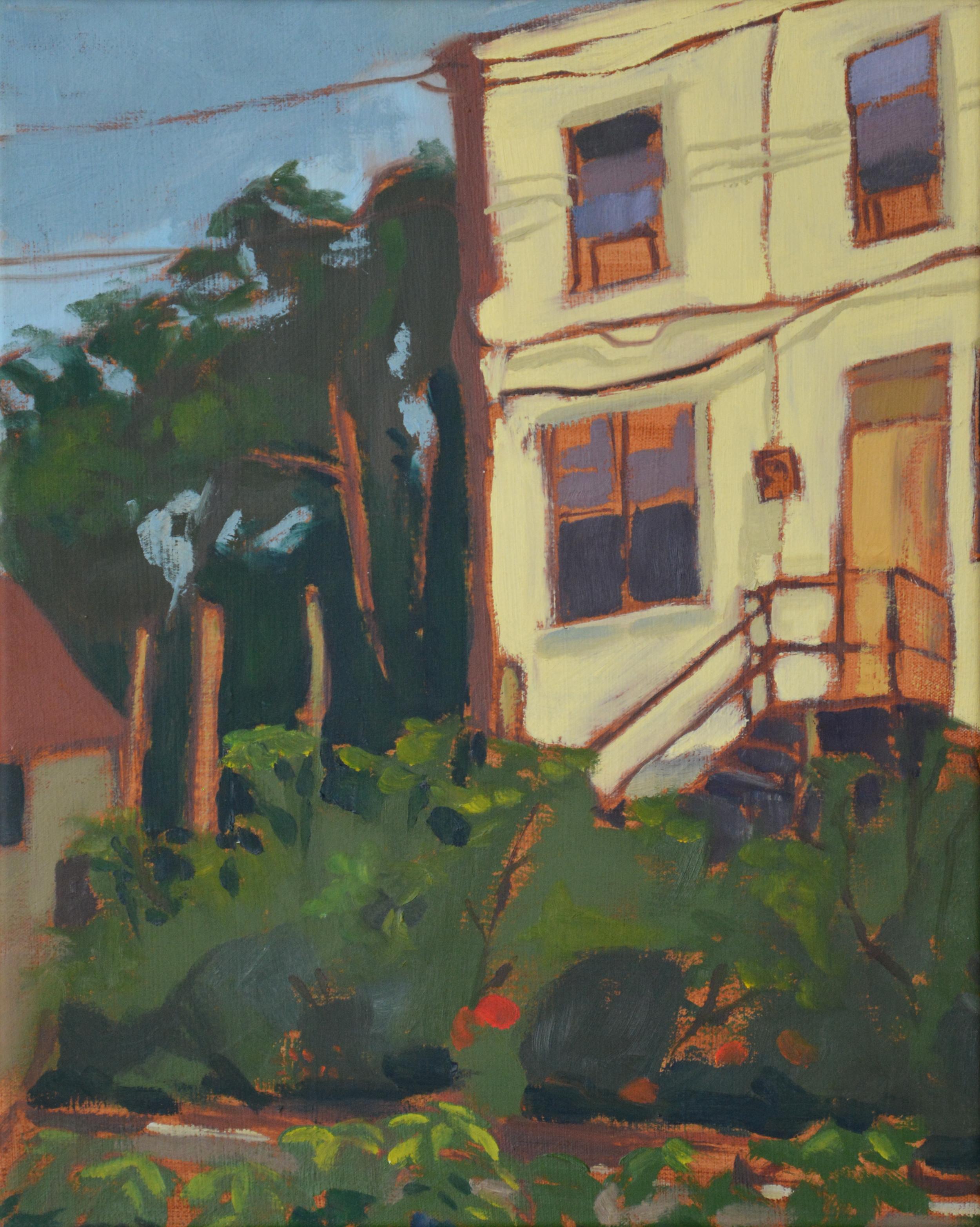 "Hunting Park Community Garden, 17x20"", oil on canvas, 2008"