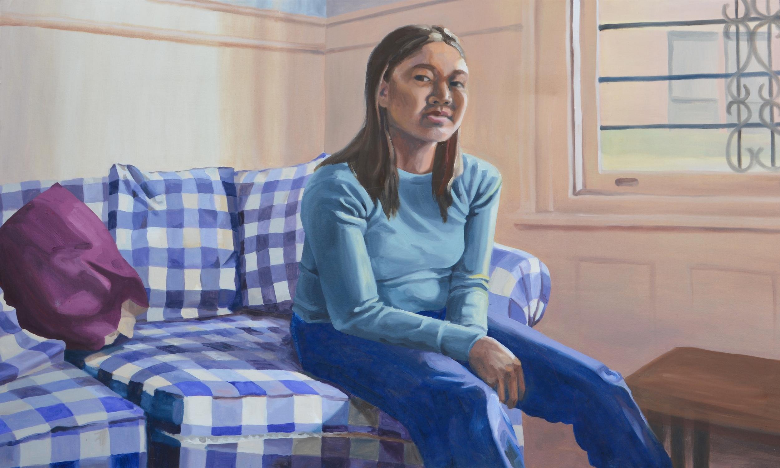 "Christine, 50x39"", oil on canvas, 2004"