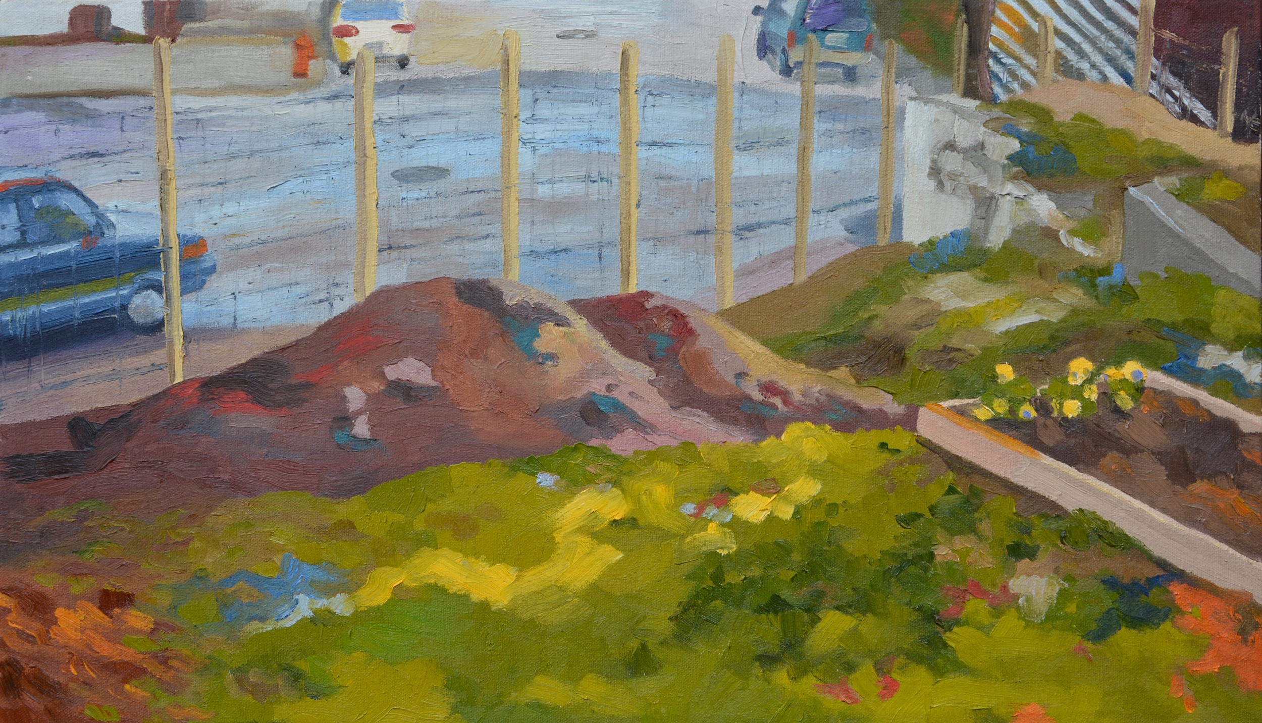Garden in the Beginning, 24x14', oil on canvas, 2007