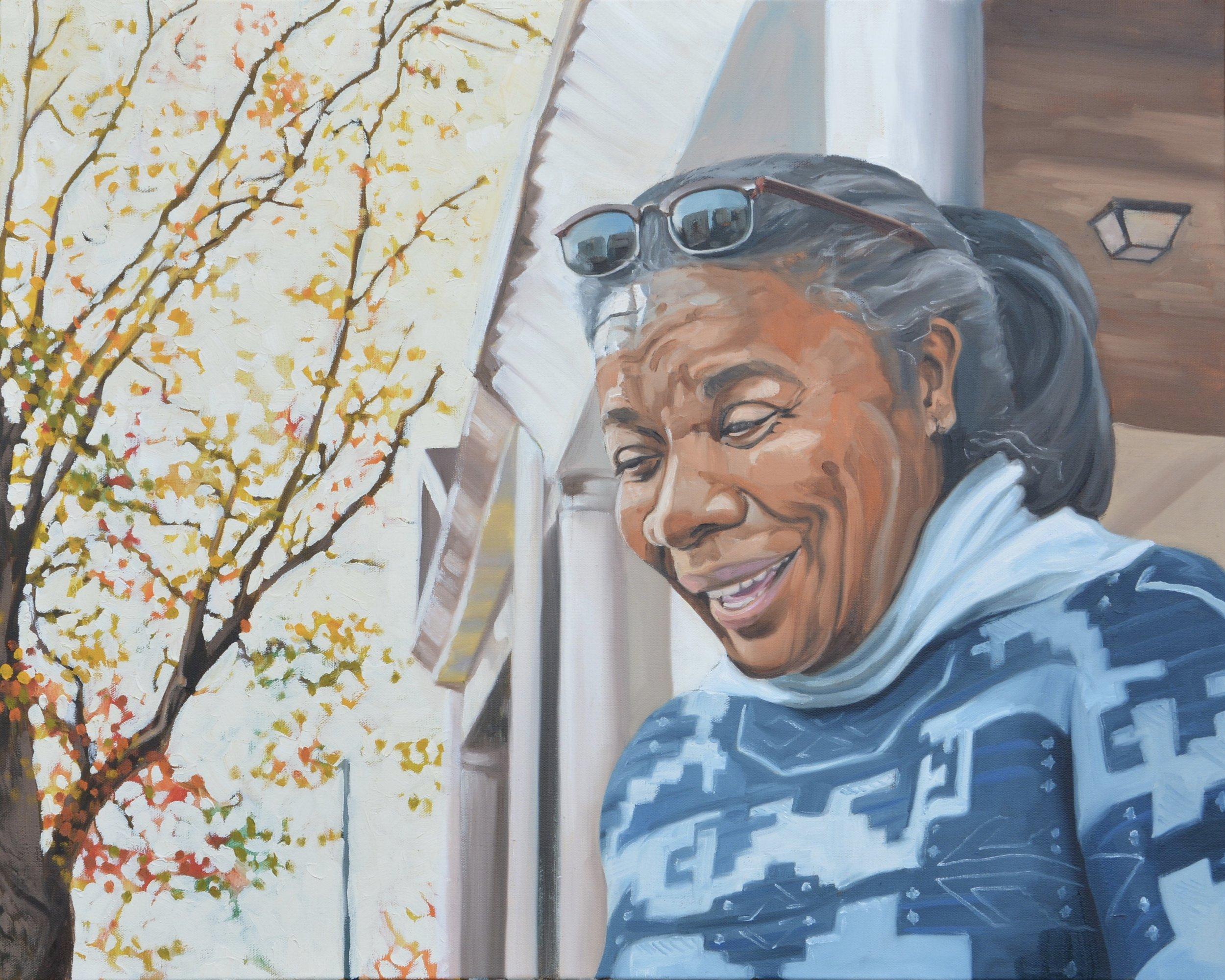 "Copy of Good Neighbors (Gina), 24x30"", oil on canvas, 2017"