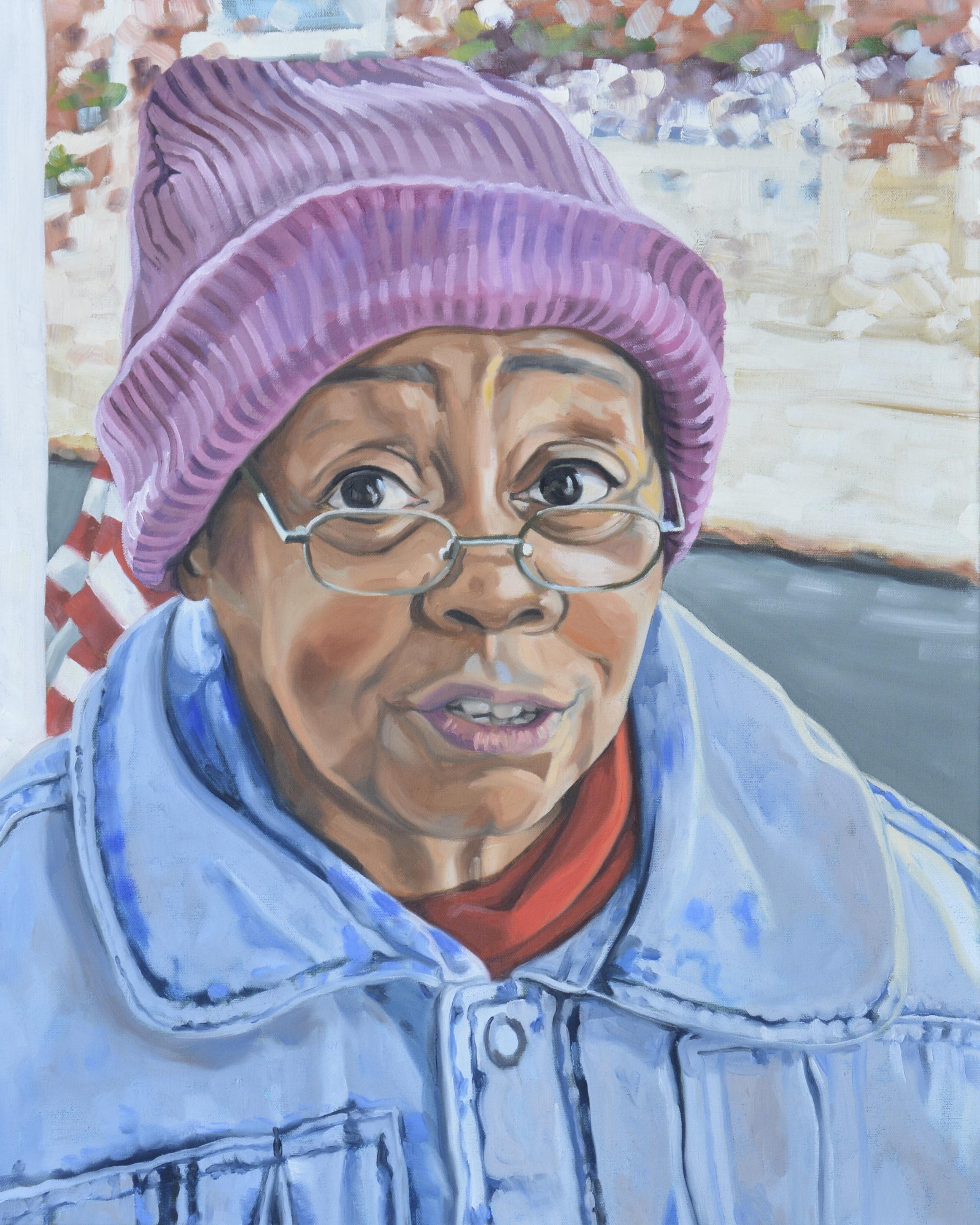 "Copy of Good Neighbors (Diane), 24x30"", oil on canvas, 2017"